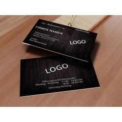 Visitenkarte - Holz